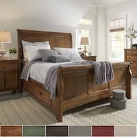 Ediline King Size Wood Sleigh Platform Storage Bed by iNSPIRE Q Classic