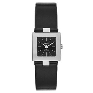 Rado Diastar Black Leather Women's Watch