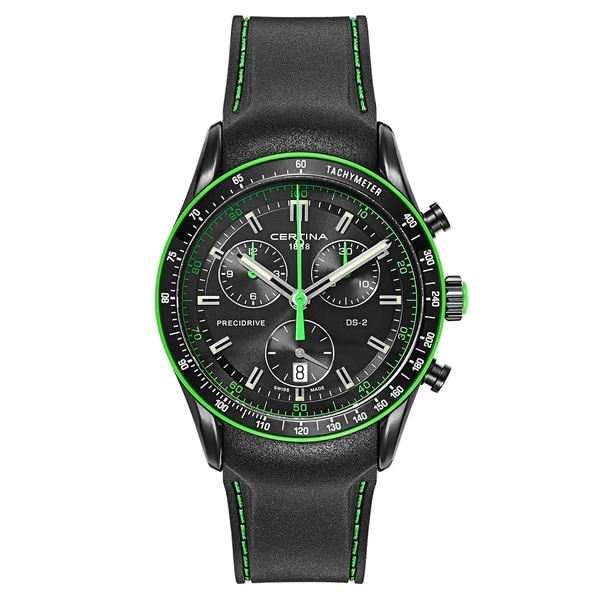 Certina DS 2 Rubber and Stainless Steel PVD Coated Men's Watch
