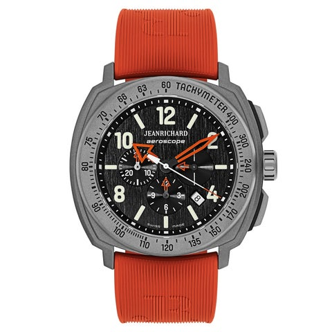 JeanRichard Aeroscope Rubber and Titanium Men's Watch