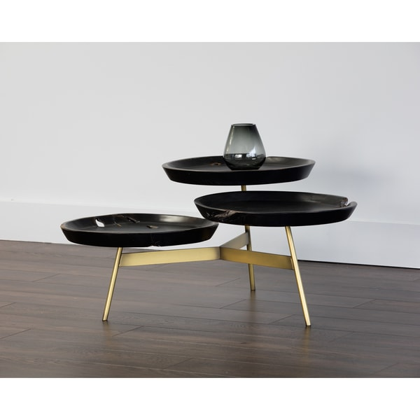 Artezia Montoya Black Round Coffee Table On