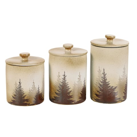 HiEnd Accents Clearwater Pines 3-Piece Canister Set