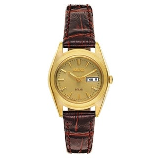 Seiko Core Brown Leather Women's Watch