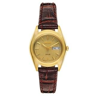 Seiko Core Brown Leather Women's Watch