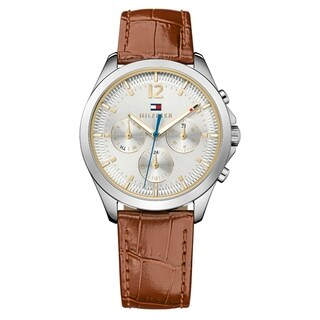Tommy Hilfiger Kingsley Brown Leather Women's Watch
