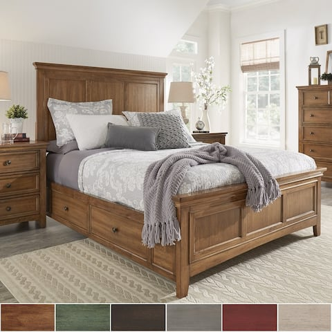 Copper Grove Marseille King-size Wood Panel Platform Storage Bed