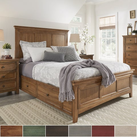 Ediline King Size Wood Panel Platform Storage Bed by iNSPIRE Q Classic