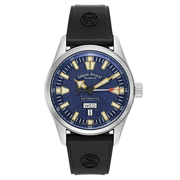 Armand Nicolet M02 Rubber and Stainless Steel Men's Watch