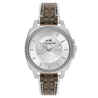 Coach Boyfriend Leather Women's Watch (Option: White)