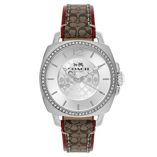 Coach Boyfriend Leather Women's Watch (Option: Red)