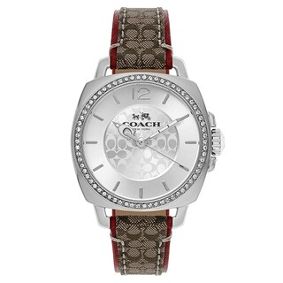 Coach Boyfriend Leather Women's Watch