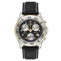 Certina DS Nautic Black Leather Men's Watch