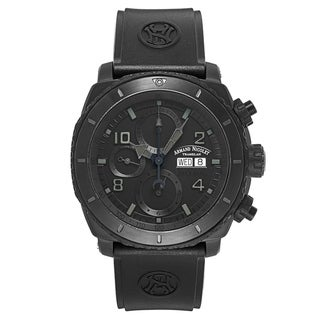 Armand Nicolet S05 Black Titanium and Rubber Men's Watch
