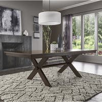 Louie Espresso X-Base Trestle Extendable Dining Table by iNSPIRE Q Bold