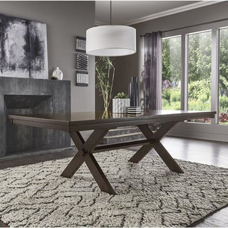 Louie Espresso X-Base Trestle Extendable Dining Table by iNSPIRE Q Bold (2 options available)