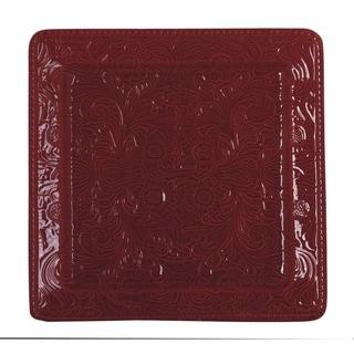 HiEnd Accents Savannah Serving Platter, Red