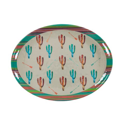 HiEnd Accents Cactus Design Melamine Serving Platter, 1 pc