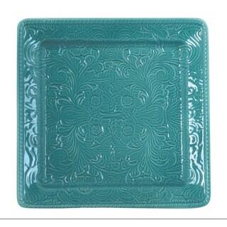 HiEnd Accents Savannah Serving Platter, Turquoise