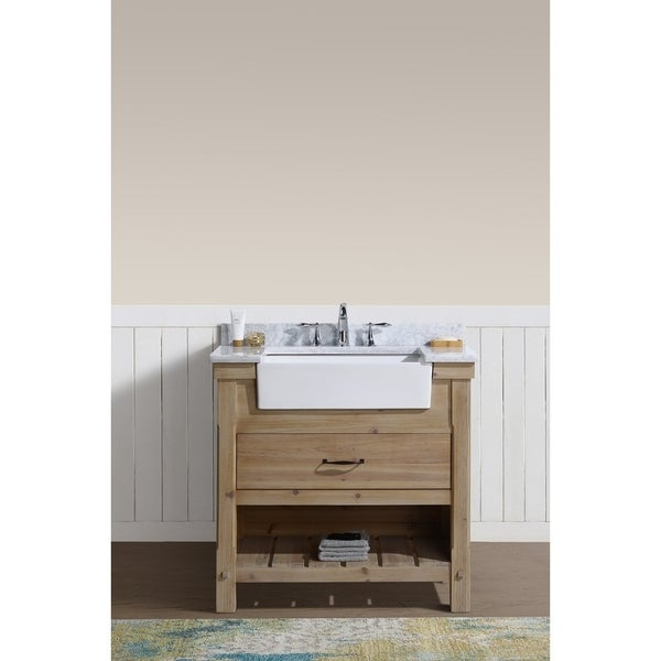 "Marina 36"" Bathroom Vanity Driftwood Finish"
