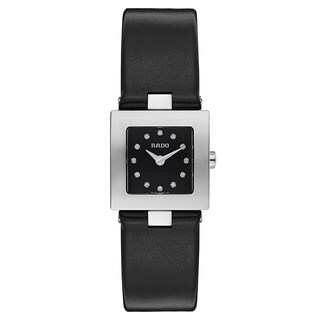 Rado Diastar Black Leather Women's Watch
