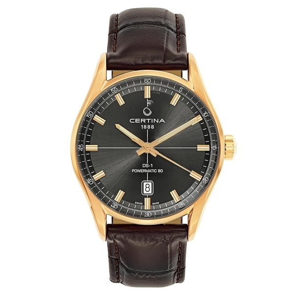 675773bfd Shop Certina DS 1 Brown Leather Men's Watch - Free Shipping Today ...
