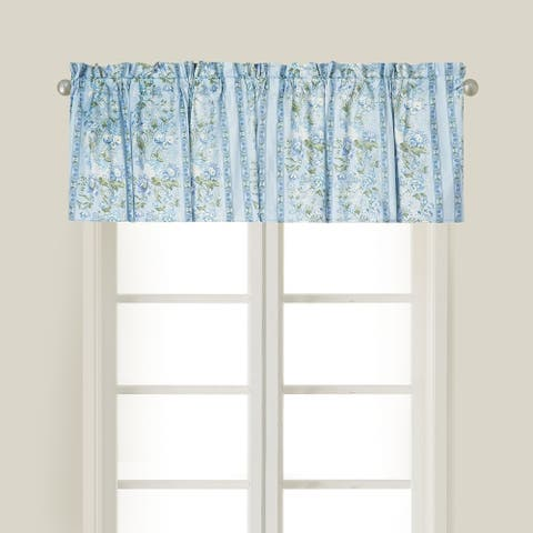 Eleanor Cotton Window Curtain Valance Set of 2 - 15.5 x 72
