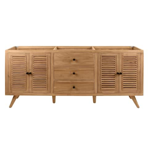 Avanity Harper 72 in. Vanity Only in Natural Teak