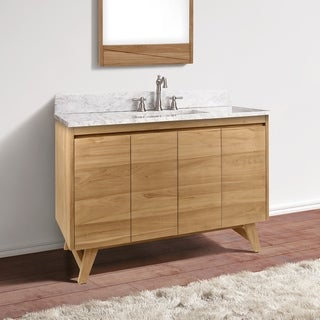Avanity Coventry 49 in. Vanity Combo with Carrera White Marble Top