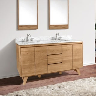 Avanity Coventry 61 in. Vanity Combo with Carrera White Marble Top