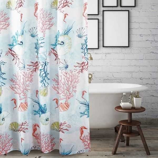 Barefoot Bungalow Sarasota Coastal Shower Curtain