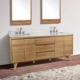 Avanity Coventry 73 in. Vanity Combo with Carrera White Marble Top