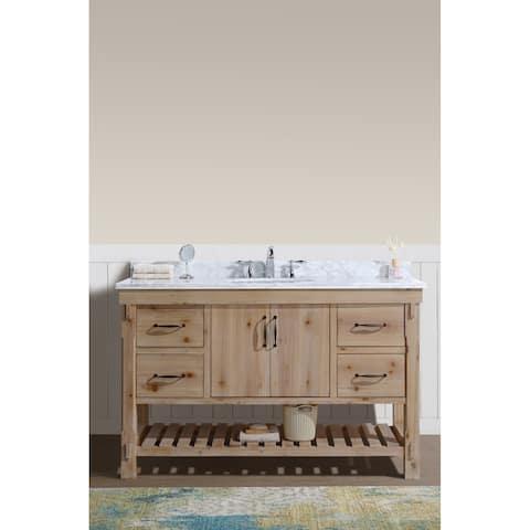 "Marina 55"" Bathroom Vanity Driftwood Finish"