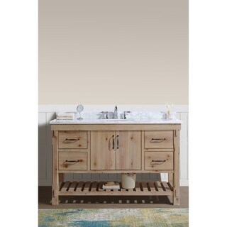 "Marina 55"" Bathroom Vanity Driftwood Finish"