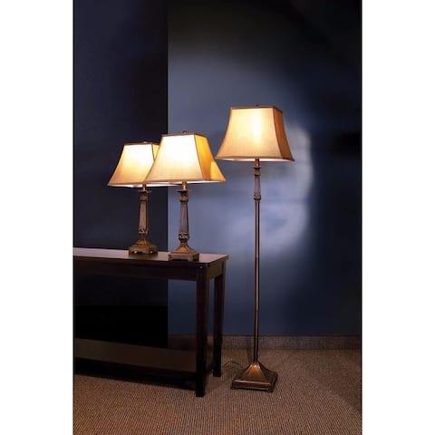 Traditional Metal Floor & Table Lamps, Bronze