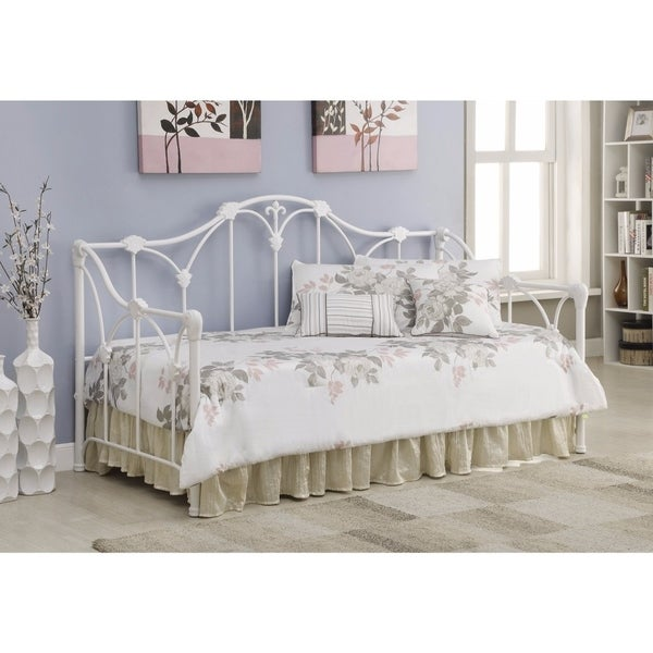 Shop Well Designed Twin Metal Daybed With Floral White