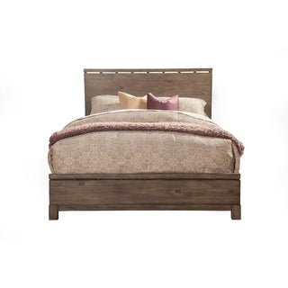 Transitional Style Queen Size Panel Bed In Wood,  Brown