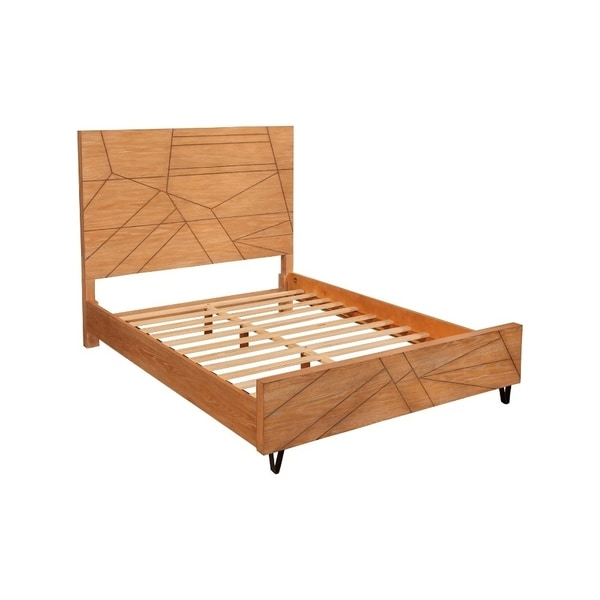 Shop Mahogany Wood Queen Platform Bed With Headboard And
