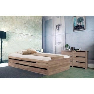 Luxurious Full Size Chest Bed With 6 Storage Drawers, Brown Finish.