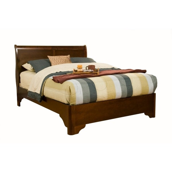delightful What Is Rubberwood Solids Part - 19: Full Size Sleigh Bed In Rubberwood Solids With Low Footboard Brown