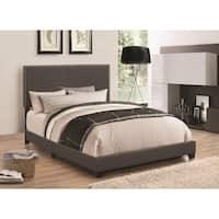 Modern Panel Twin  Bed, Dark Gray