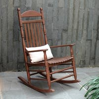 Cambridge Casual Alston Traditional Rocking Chair - Natural Brown
