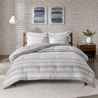 Urban Habitat Mason Stripe Print Ultra Soft Cotton Blend Jersey Knit Comforter Set