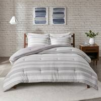 Urban Habitat Mason Stripe Print Ultra Soft Cotton Blend Jersey Knit Comforter Set