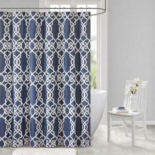 510 Design Neville Dark Grey Printed Shower Curtain
