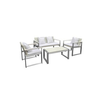 Outstandingly Vougish Outdoor Lounge Set In White