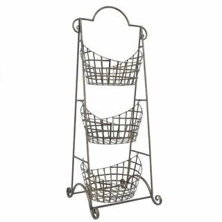 Storage Rack having Baskets - Benzara