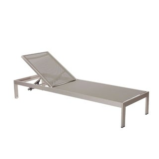 Anodized Aluminum Modern Patio Lounger In Gray
