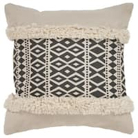 "LR Home Modern Black Natural Throw Pillow ( 18"" x 18"" )"