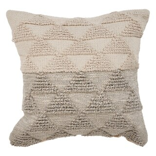 "LR Home Gradient Gray Natural Throw Pillow ( 18"" x 18"" )"