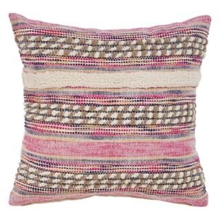 "LR Home Tribal Pink Natural Throw Pillow ( 18"" x 18"" )"